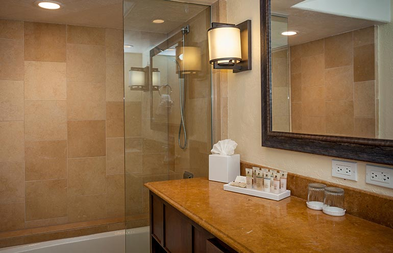 Accessible Luxury Jr Suite King Bed W/ Roll-In Shower at Hotel Pacific Street Monterey, California