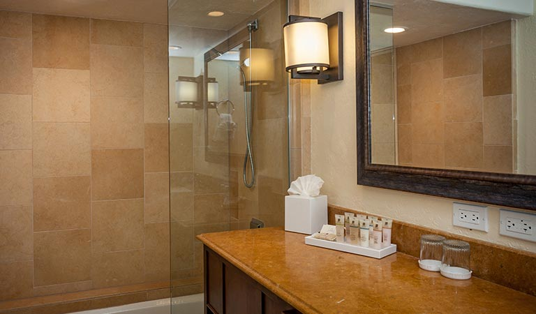 Accessible Luxury Jr Suite King Bed W/ Roll-In Shower at Hotel Pacific Street Monterey California